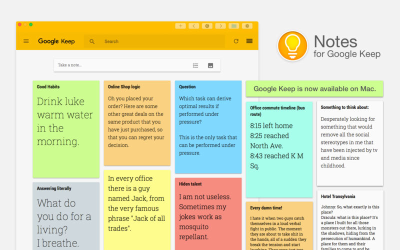 Google keep ứng dụng ghi chu