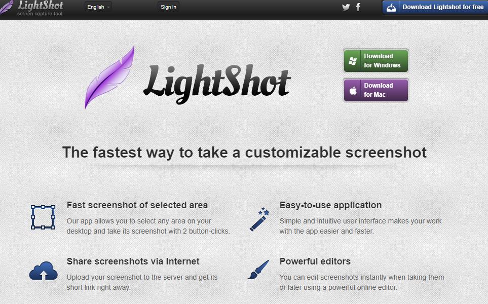 Tải phần mềm chụp ảnh màn hình Lightshot